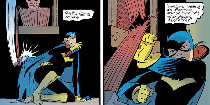 Batgirl (Barbara Gordon) (2003 Year One) training dummy knife