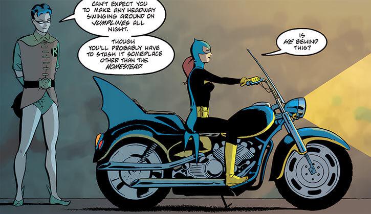 Batgirl (Barbara Gordon) (2003 Year One) roadster bike