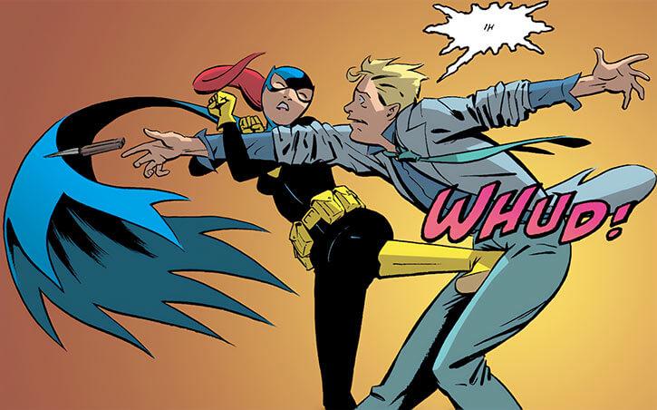 Batgirl (Barbara Gordon) (2003 Year One) kick in the balls