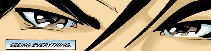 Batgirl (Cassandra Cain) eyes closeup