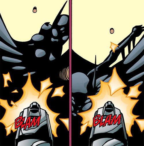 Batgirl (Classic Cassandra Cain) (DC Comics) dodging a bullet