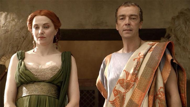 Batiatus (John Hannah) and Lucretia (Lucy lawless)