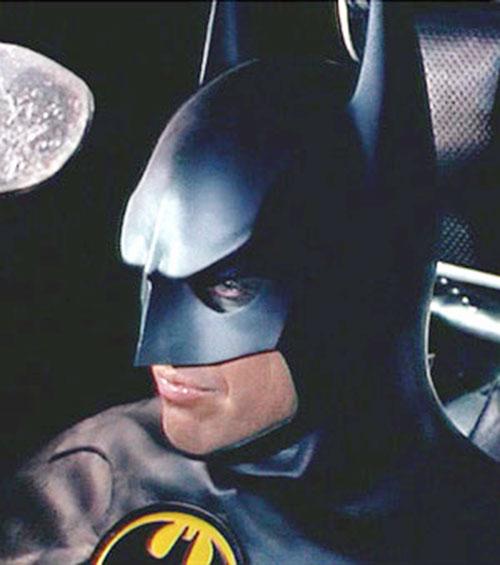 Batman (Michael Keaton) head closeup
