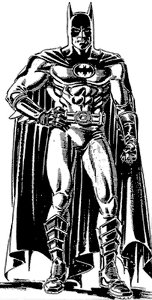 Batman (Michael Keaton) costume drawing
