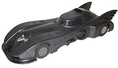 The Batmobile in the 1989 Batman movie (model)