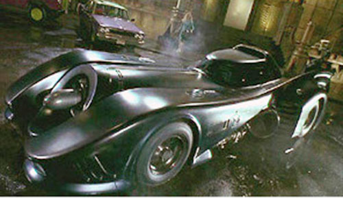 The Batmobile in the 1989 Batman movie