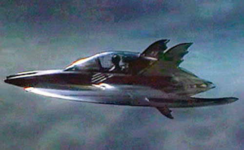 The Batwing in the 1989 Batman movie (side view)