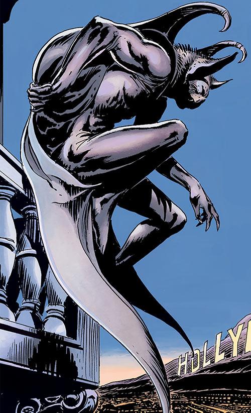 Batman (Imagine Stan Lee version) above Hollywood