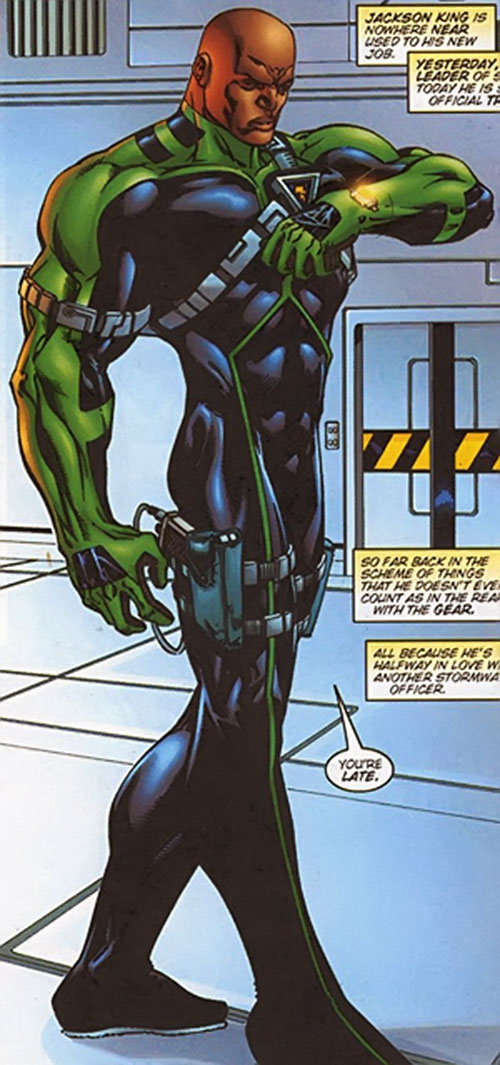Battalion (Image Comics) in a black and green uniform