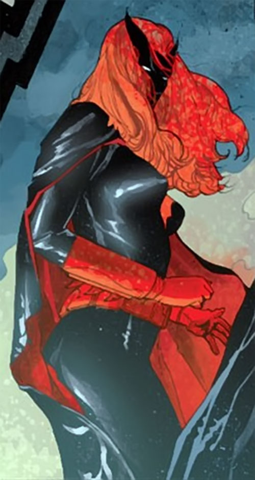 Batwoman (Katherine Kane) (DC Comics modern) hair hiding face
