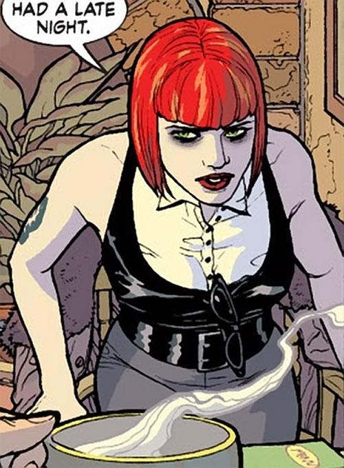 Batwoman (Katherine Kane) (DC Comics modern) in a cafe