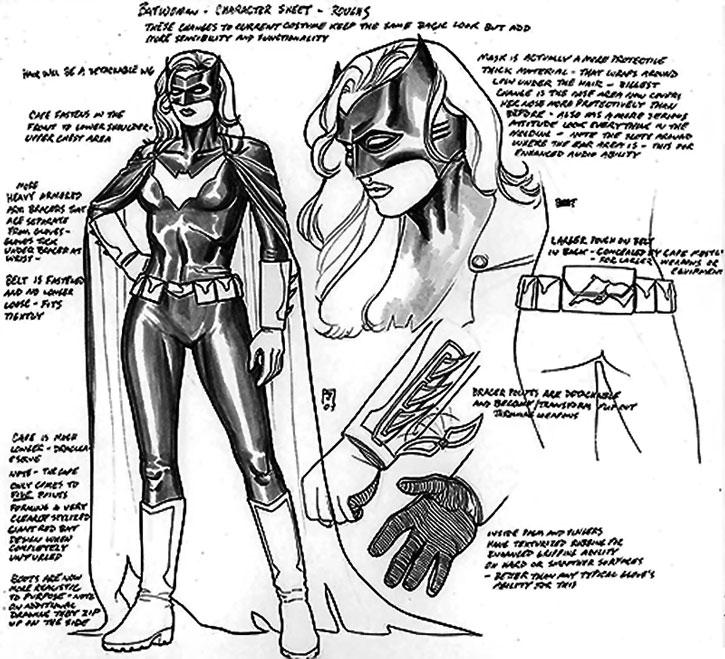 Batwoman (Kate Kane) costume character sheet