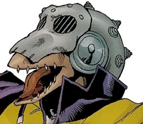 Beak of the X-Men and Exiles (Marvel Comics) face closeup with helmet