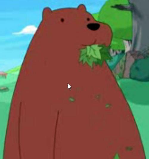 Bear (Adventure Time) munching on leaves