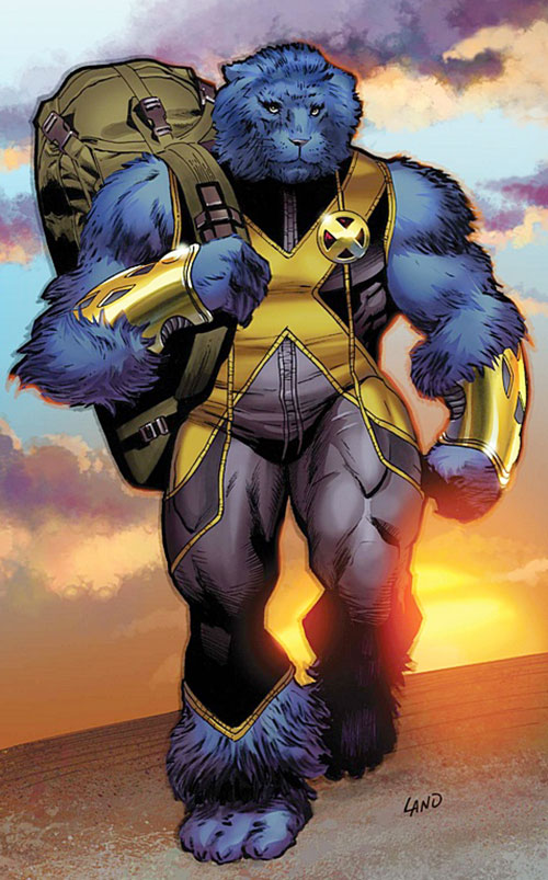 Beast (Marvel Comics) (X-Men) walking off in the sunset