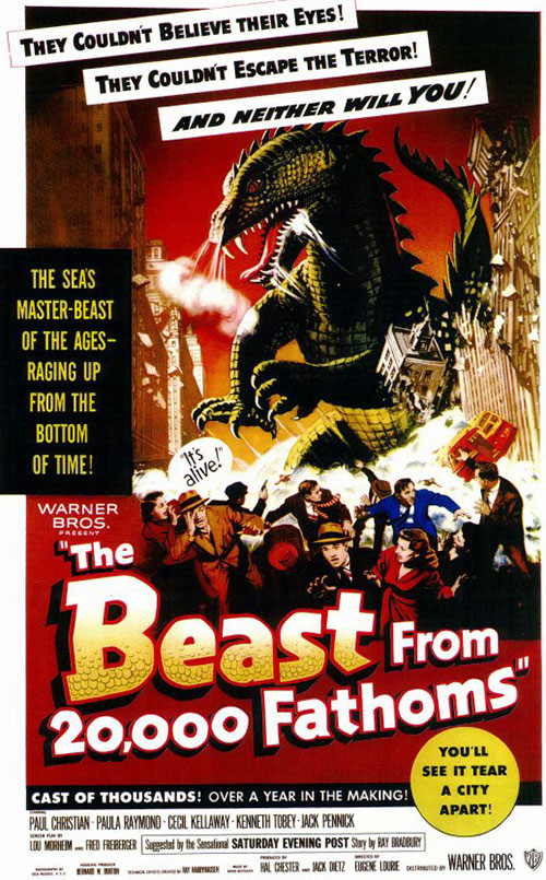 Beast from 20000 fathoms movie poster