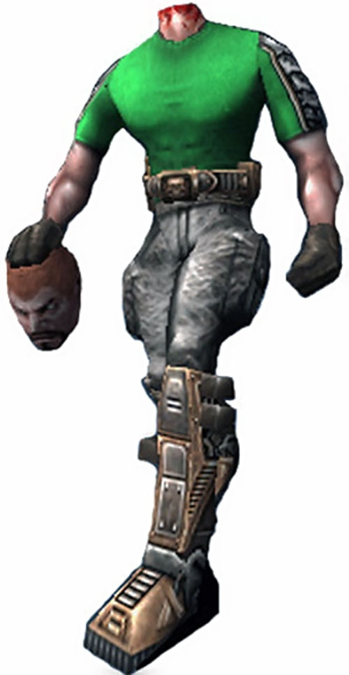 Beheaded bomber in the Serious Sam video games