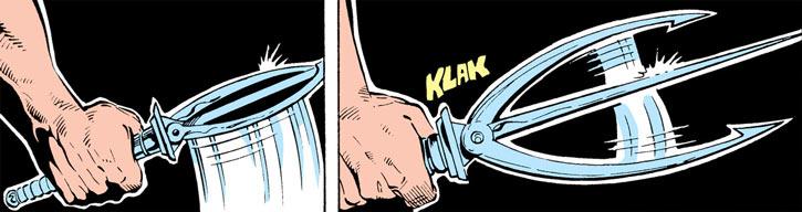 Bengal (Marvel Comics Daredevil) three-pronged spring dagger