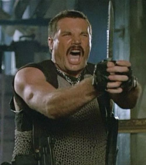 Bennett (Vernon Wells in Commando) making faces 1/7