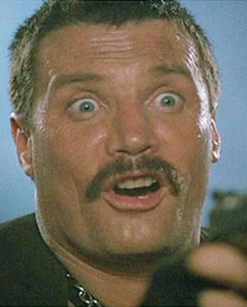 Bennett (Vernon Wells in Commando) making faces 4/7