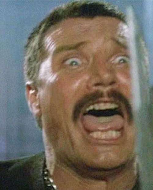 Bennett (Vernon Wells in Commando) making faces 7/7