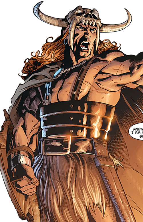 Beowulf (DC Comics) looking mean