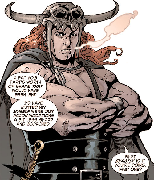 Beowulf (DC Comics) with arms crossed