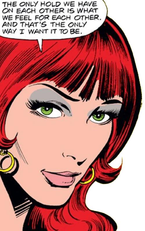 Bethany Cabe (Marvel Comics) smiling