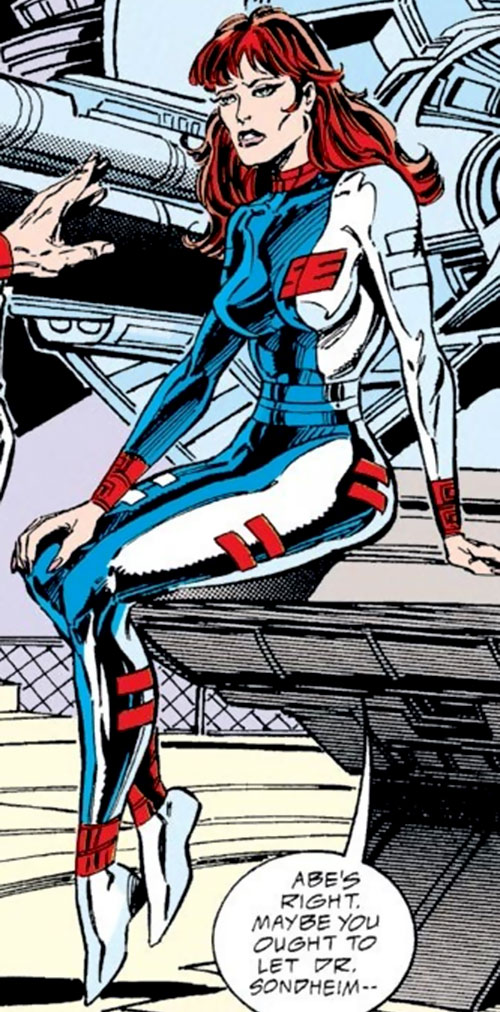 Bethany Cabe (Marvel Comics) in a tight jumpsuit