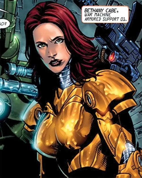 Bethany Cabe (Marvel Comics) in power armor