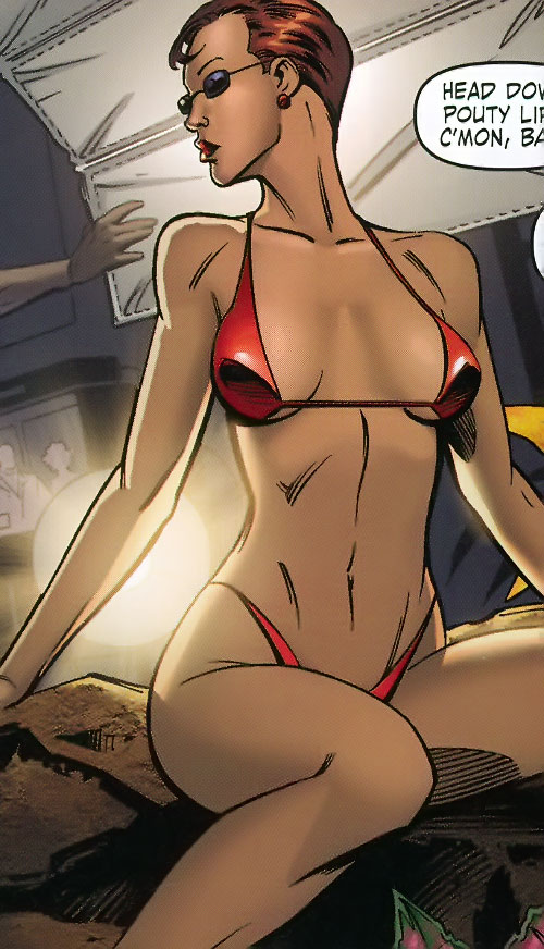Big Bertha of the Great Lakes Avengers (Marvel Comics) in model form, in a bikini