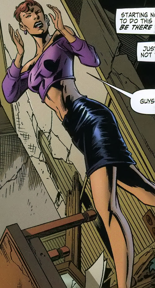 Big Bertha of the Great Lakes Avengers (Marvel Comics) in model form, with a black miniskirt