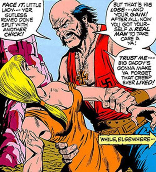 Big Daddy Dawson (Ghost Rider enemy) threatens a woman