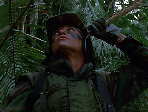 Billy Sole (Sonny Landham in Predator) drinking in the jungle