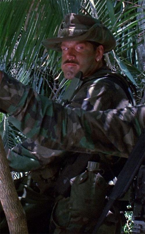 Blaine (Jesse Ventura in Predator) chewing