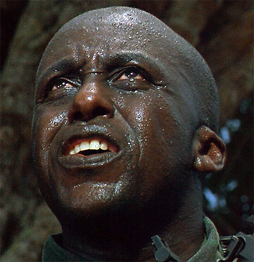 Mac Eliot (Bill Duke in Predator) face closeup