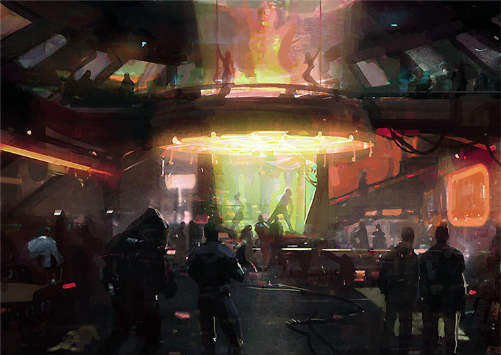 Concept art for the Afterlife night club
