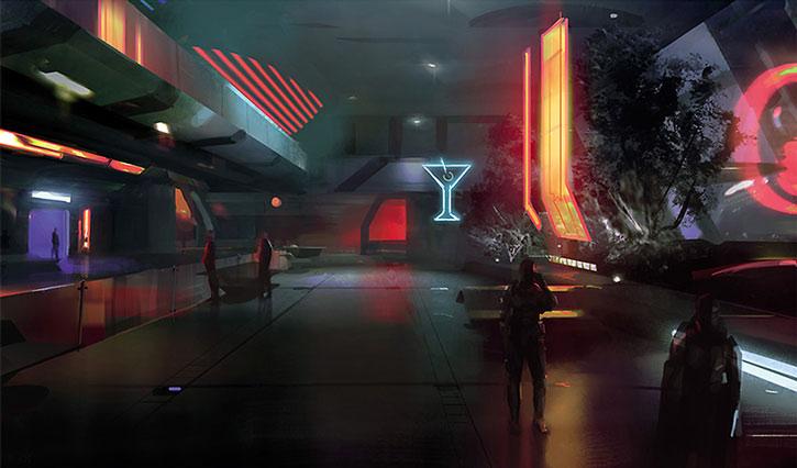 Concept art for a Citadel hall