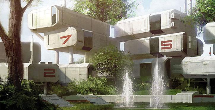 Concept art of the Horizon colony prefabs