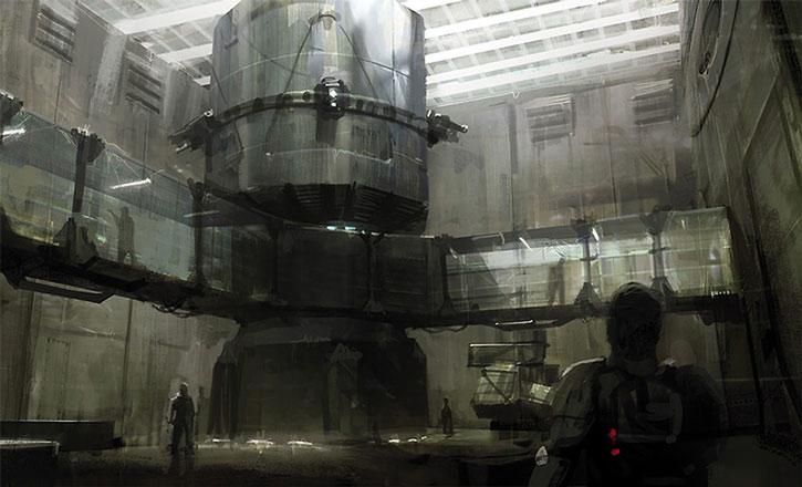 Concept art of the Purgatory prison ship