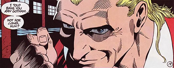 Bird (Bane's lieutenant) closeup