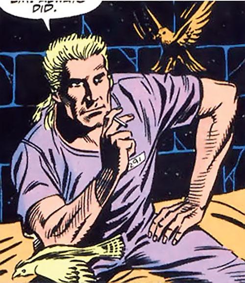 Bird (Bane / Batman character) (DC Comics) in a prison