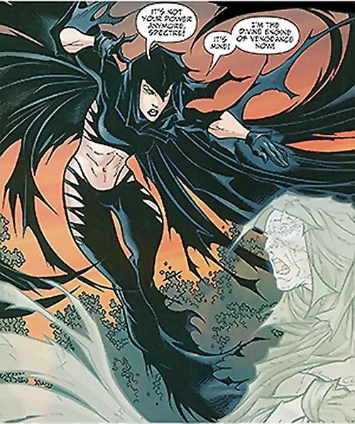 Black Alice (Birds of Prey) (DC Comics) using the Spectre's power