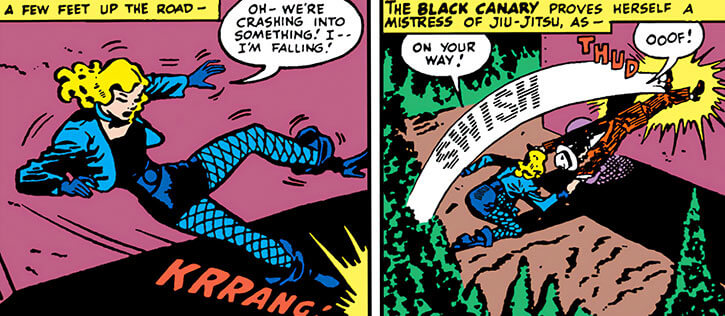 Black Canary (DC Comics) (Golden Age) using jiu jistu