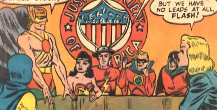 Black Canary (DC Comics) (Golden Age) with the assembled JSA