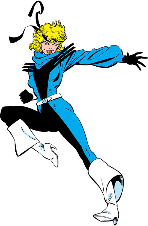 Black Canary (DC Comics) with the white buccaneer boots JLA costume