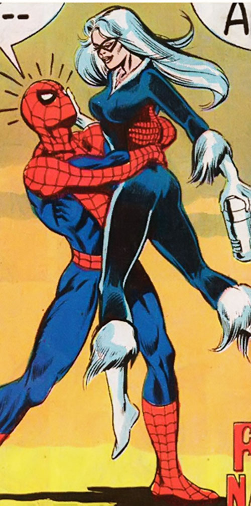 Black Cat (Marvel Comics) (Early) and Spider-Man