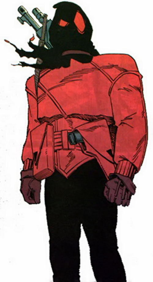 The Black Hood during the 1990s with the simpler costume