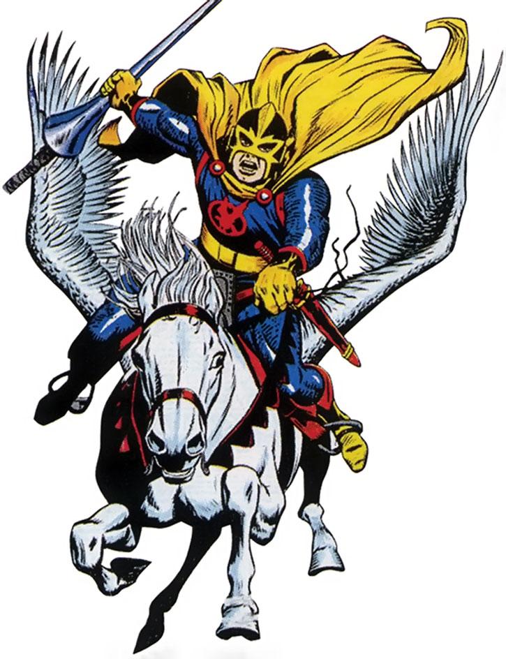 Black Knight (Dane Whitman) on his white winged horse