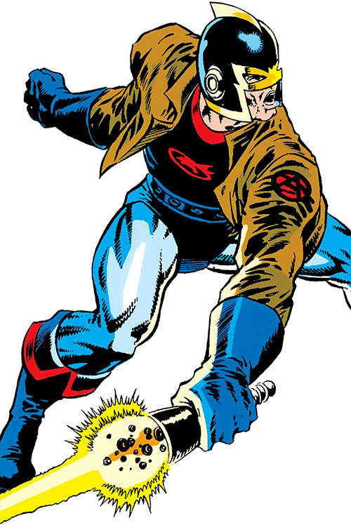 Black Knight of the Avengers (Dane Whitman) (Marvel Comics) with leather jacket and photon sword